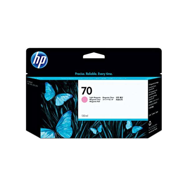 AV・デジモノ (まとめ) HP70 インクカートリッジ ライトマゼンタ 130ml 顔料系 C9455A 1個 【×3セット】:創造生活館