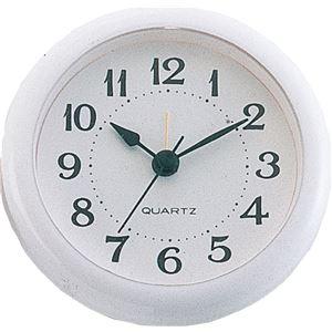 画材・絵具便利日用品(まとめ買い)丸型時計ホワイトアラーム付【×15セット】