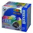 パソコン・周辺機器 (まとめ) マクセル データ用CD-R 700MB 48倍速 10色カラーMIX 5mmスリムケース CDR700S.MIX1P20S 1パック(20枚:各色2枚) 【×3セット】