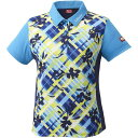 スポーツ用インナー メンズインナー 関連 スポーツ・レジャー関連商品 ニッタク(Nittaku)卓球アパレル FURACHECKS SHIRT(フラチェックスシャツ)ゲームシャツ(レディース)NW2181 ブルー 2XO