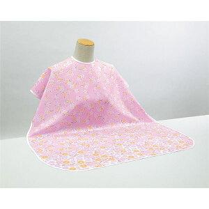 健康器具(まとめ)ピジョン食事用エプロン肩までおおえる食事エプロン(1)ピンク(花柄)11241【×5セット】