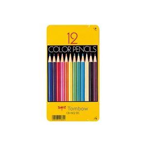 文具・オフィス用品(業務用50セット)トンボ鉛筆色鉛筆CB-NQ12C12色缶入【×50セット】