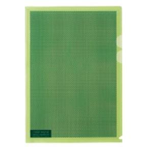 生活用品・インテリア・雑貨(業務用5セット)プラスカモフラージュホルダーA4淡緑100冊【×5セット】