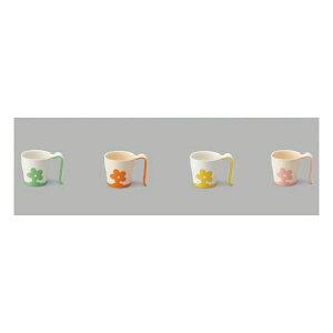 健康器具(まとめ)三信化工食事用具自助食器マグカップイエローUPC-180Y【×10セット】