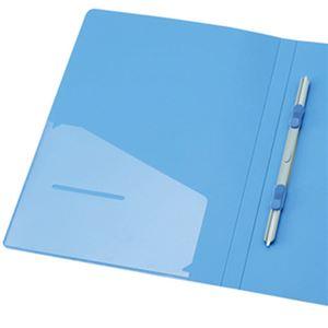 文具・オフィス用品(まとめ)TANOSEEレターファイル(PP)A4タテ120枚収容背幅18mmブルー1冊【×30セット】