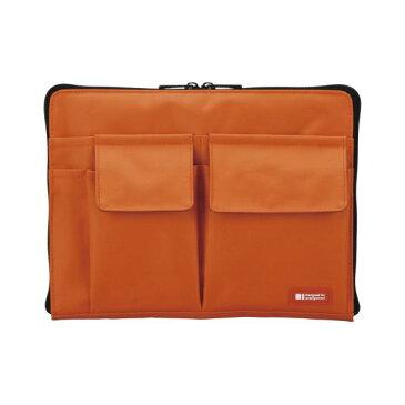文具・オフィス用品 (業務用セット) リヒトラブ バッグ・イン・バッグ A5サイズ A-7553-4 橙 1個入 【×3セット】
