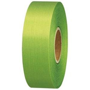 文具・オフィス用品(業務用10セット)ジョインテックスカラーリボン黄緑24mm*25m10個B824J-YG10【×10セット】