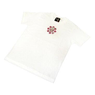 ファッション 戦国武将Tシャツ 【上杉謙信 毘】 XSサイズ 半袖 綿100% ホワイト(白) 〔Uネック おもしろ〕