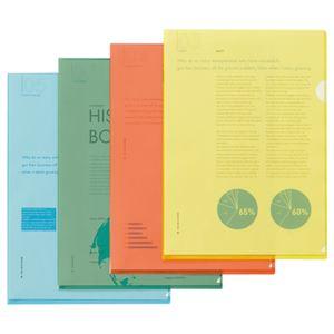 文具・オフィス用品(まとめ)TANOSEEクリアホルダーA4ブルー1パック(10枚)【×30セット】