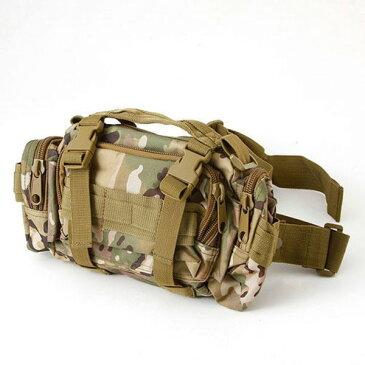 アメリカ陸軍 3WAYウエストバッグ ナイロン(1000デニール) 防水生地使用 BS056YN マルチカモ 【レプリカ】