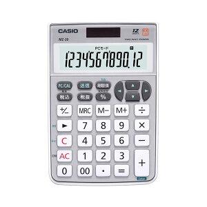 生活用品・インテリア・雑貨(まとめ)カシオCASIOテンキー電卓12桁ミニナイスサイズMZ-20-SR-N1台【×2セット】