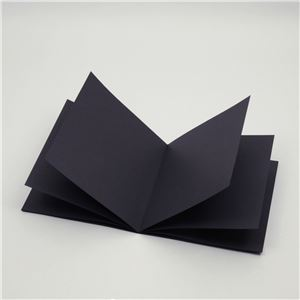 ホビー・エトセトラ便利日用雑貨(まとめ買い)黒い絵本薄型正方形【×15セット】