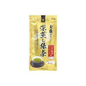 お茶・紅茶 (業務用40セット) 寿老園 玉露入り深蒸し緑茶 雅 100g 【×40セット】:創造生活館
