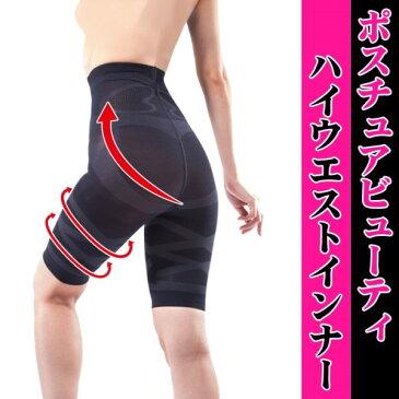 ガードル ハイウエスト 履くだけで体型に変化を与えるスリムインナー ダイエット ポスチュアハイウエストインナー M-L(ブラック)