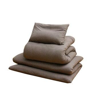 Organic cotton 布団カバーセット オールシーズン 洗える布団カバー3点セット シングル カラー:ブラウン