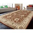 絨毯 お部屋のインテリアに合わせやすい 素敵な 部屋 エジプト製 最高級ウィルトンカーペット「グランド」約240×330cm ブラウン