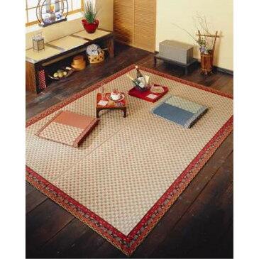 絨毯 ござ 素足に心地よいクッション性 素敵な 暮らし い草花ござ『かれん』 ローズ 174×261cm