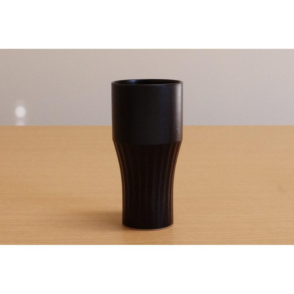 フリーカップ タンブラー 使いやすい 黒陶しのぎ ワンモアカップ
