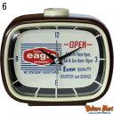 置時計 アナログ POPでカワイイ 生活雑貨 アラーム付き時計 レトロスタイル クロック OPEN