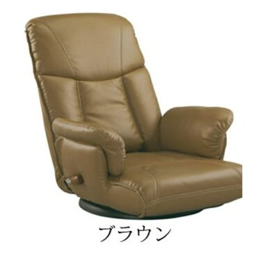 チェアー チェア ウレタン スーパーソフトレザー座椅子 カラー:ブラウン
