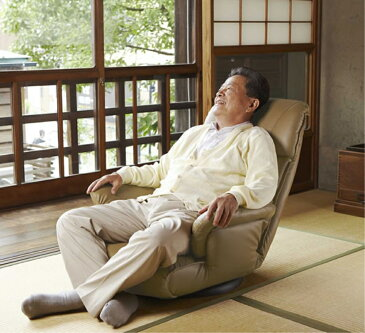 チェアー 座イス 13段階リクライニング スーパーソフトレザー座椅子 カラー:ワインレッド