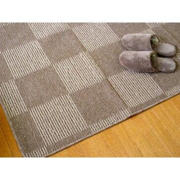 2畳 既製品のサイズに合わなくても キモチいい 手洗いのできる折り畳みカーペット 江戸間 2帖 176×176 ブラウン