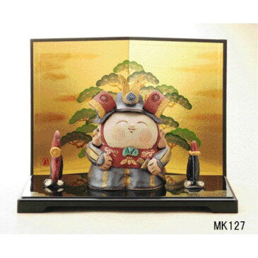 子供の日 小さい 陶器 五月人形 民芸錦 武者飾り