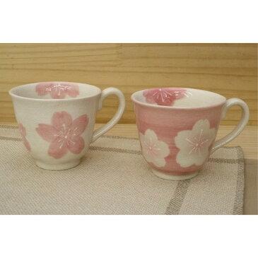 湯呑 ペア お揃い おしゃれ 春を感じる「季節の器」紅桜ペアマグ コーヒーカップ