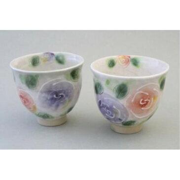 湯呑み 夫婦茶碗 箸置き 一珍バラ園 組湯呑(2個セット) ペア湯飲み 薔薇