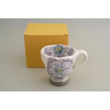 カップ ソーサー お揃い おしゃれ 「亜福窯」 粉引輪花 マグ(小)紫 コーヒーカップ