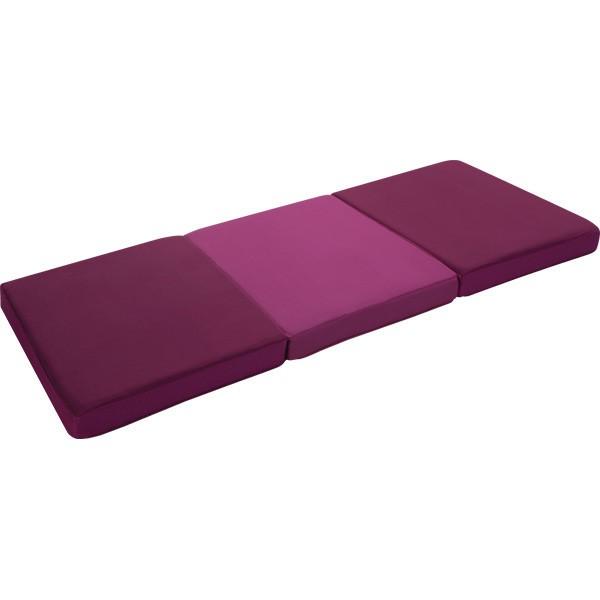 マットレス 敷布団 効率的に、体圧分散。 睡眠グッズ 新素材ネオフォーム高反発敷きふとん11cm 三つ折れ エンジ:創造生活館
