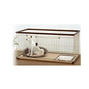 Richell(リッチェル) 木製お掃除簡単ペットサークル 150-80 超小型犬~中型犬用 89531-3 ダークブラウン