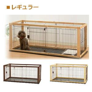 Richell(リッチェル) 木製スライドペットサークル レギュラー 小型犬用 ナチュラル
