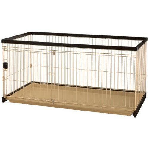 犬用サークル インテリアに調和した、木製 タイプ! 人気商品 木製お掃除簡単ペットサークル 150-80 ダークブラウン(DB):創造生活館