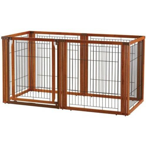 犬 サークル ゲート ペットの専用スペースに… ペット雑貨 ペット用 木製3WAYサークル 6面90H ブラウン(BR):創造生活館