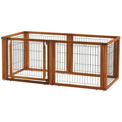 犬用サークル ゲート 室内の危険対策に… 役立つ ペット用 木製3WAYサークル 6面70H:創造生活館