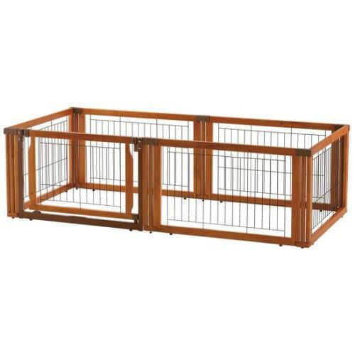ペットサークル 犬 「サークル」「ゲート」「仕切り」1台3役の優れもの! ペットグッズ ペット用 木製3WAYサークル 6面50H:創造生活館