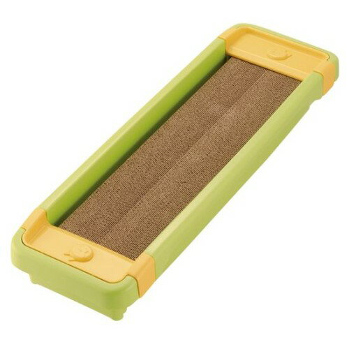 猫 爪磨き 滑り止め付きなので、ズレにくく床をキズつけません。 話題の 猫のツメみがき 本体セット グリーン(GR)