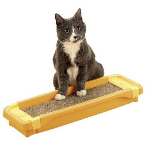 猫 爪とぎ 対策 滑り止め付きなので、ズレにくく床をキズつけません。 犬 猫 グッズ 猫のツメみがき 本体セット オレンジ(O)