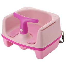 赤ちゃん テーブルチェア 座り心地が良く、おしりのずり落ちを防ぎます。 役立つ クルッとチェア ピンク(P)