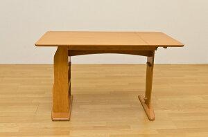 リビングダイニングテーブル収納付き!天板、スライド、簡単に伸縮可能!ダークブラウン