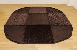 ダイニングコタツ85×85cm正方形掛け布団セットブラウン