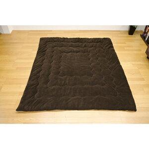 RVコタツ綿掛け布団75から80×105から120用長方形ブラウン&ベージュ