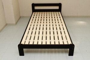 木製すのこベッドひのきスノコ通気性抜群!シングルすのこベッド!シングルベッドダークブラウン