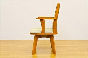 椅子イス回転チェア回転式ダイニングチェア1脚カラー:ダークブラウン