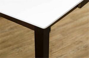 テーブル折り畳みアジャスター伸長式ハイグロスダイニングテーブルカラー:ダークブラウン
