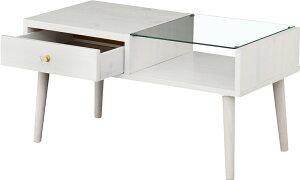 センターテーブル収納クラシカルスタイルリビングテーブルブラウン
