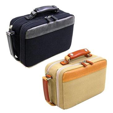 帆布製セカンドバッグ ベージュ 日本製日本 革 鞄 セカンドバッグ 本革/付属