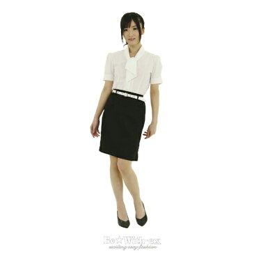 ハロウィン 仮装 ハロイン halloween costume ハローウィン女教師 コスプレ!!高校 女子教員 制服 白 半袖ブラウス 黒スカート ベルト!大きいサイズ Lサイズ