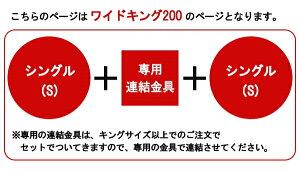 パネル型ラインデザインフロアベッドWK200(S+S)ボンネルコイルスプリングマットレス付